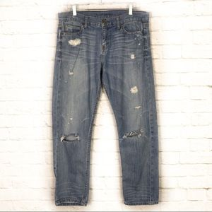 Banana Republic Distressed Relaxed Boyfriend Jeans
